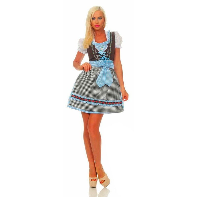 Robe Dirndl bleu clair