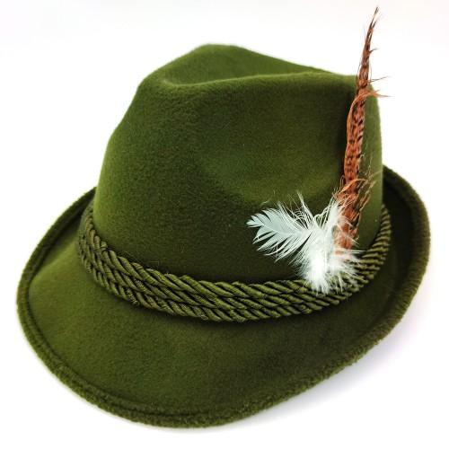 Chapeau Bavarois vert kaki