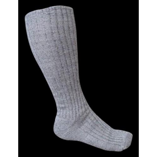 Chaussettes hautes grises